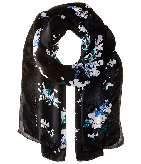 Accesorii Femei Proenza Schouler F00107 BSP107 21226 BlackBlue Floral Print