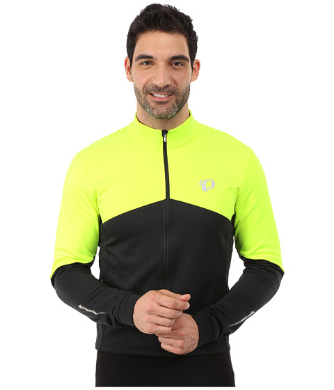 Imbracaminte Barbati Pearl Izumi Elite Thermal Long Sleeve Jersey Screaming YellowBlack