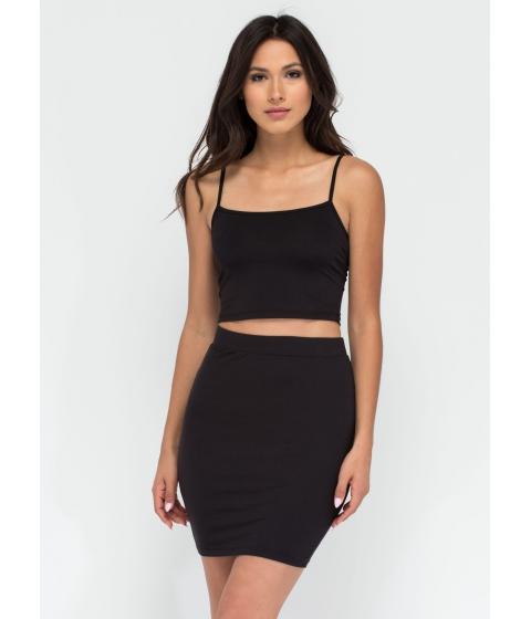 Imbracaminte Femei CheapChic Go Micro Knit Miniskirt Black