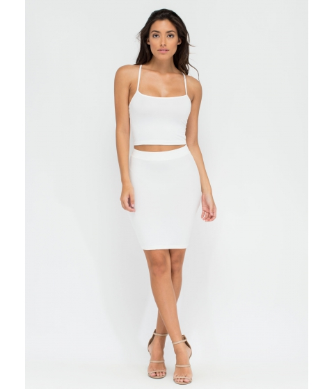 Imbracaminte Femei CheapChic Go Micro Knit Miniskirt White