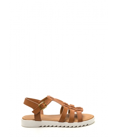 Incaltaminte Femei CheapChic Coastal Cutie Faux Leather Sandals Tan