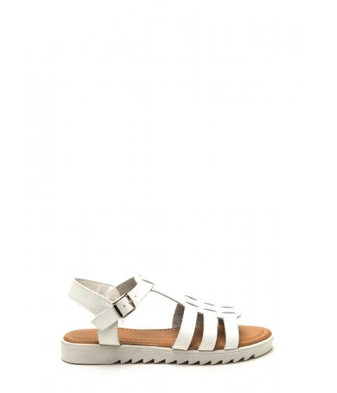 Incaltaminte Femei CheapChic Coastal Cutie Faux Leather Sandals White