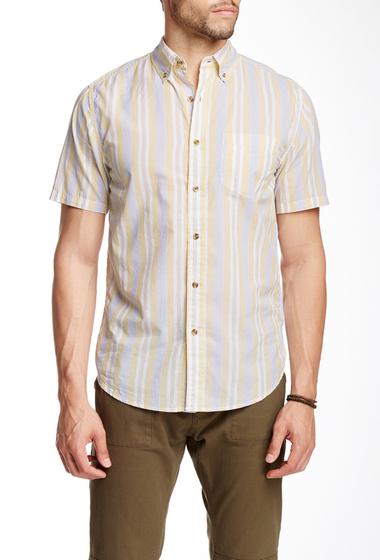Imbracaminte Barbati Barque Vintage Stripe Short Sleeve Shirt YELLOW