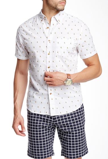 Imbracaminte Barbati Barque Bird Jacquard Knit Shirt WHITE