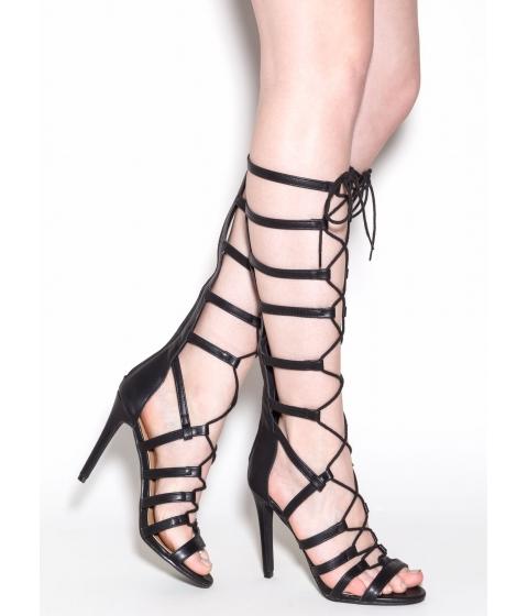 Incaltaminte Femei CheapChic Take Notice Gladiator Heels Black