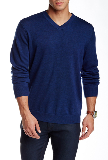 Imbracaminte Barbati Robert Graham New Castle Wool V-Neck Sweater NAVY