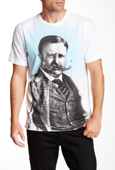 Imbracaminte Barbati Robert Graham Movember Short Sleeve Tee WHITE