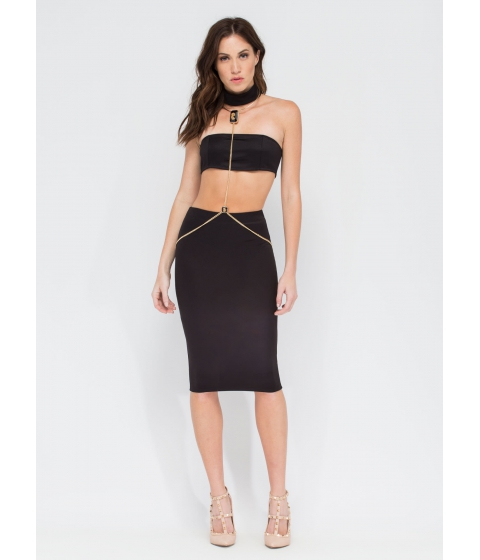 Imbracaminte Femei CheapChic Smooth Things Over Midi Pencil Skirt Black