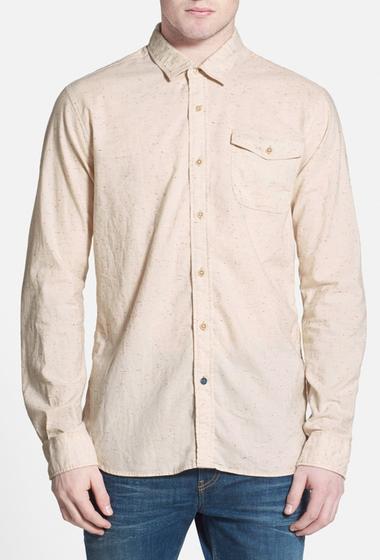 Imbracaminte Barbati Scotch Soda Extra Trim Fit Nepped Yarn Work Shirt OATMEAL