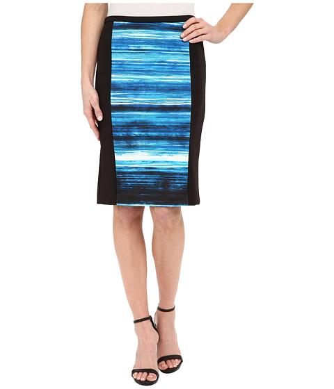 Imbracaminte Femei Calvin Klein Print Blocked Pencil Skirt LagoonCelestial Multi