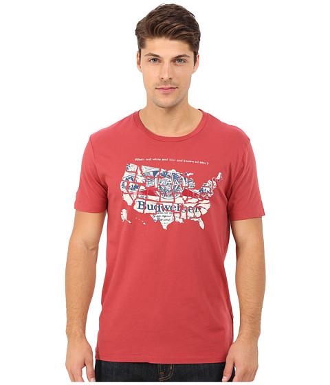 Imbracaminte Barbati Lucky Brand Budweiser America Graphic Tee Pompeian Red