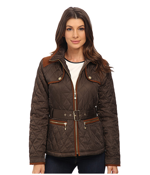 Imbracaminte Femei Vince Camuto Belted Quilted Jacket J8021 Bark