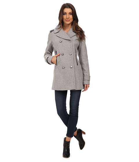 Imbracaminte Femei Vince Camuto Double Breasted Military Wool J8001 Light Grey