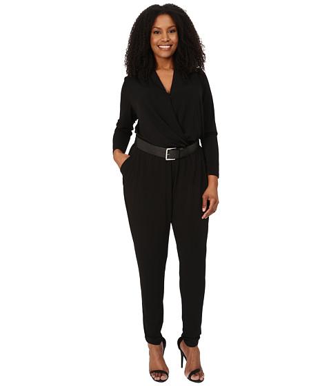 Imbracaminte Femei MICHAEL Michael Kors Plus Size Belted Jumpsuit BlackSilver