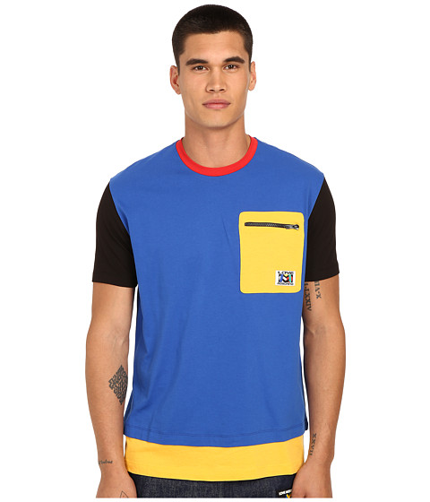 Imbracaminte Barbati LOVE Moschino Color Block Tee Shirt Azure