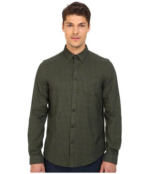 Imbracaminte Barbati Ben Sherman Long Sleeve Brushed Gingham Twill Woven Shirt MA11942A Garden Green