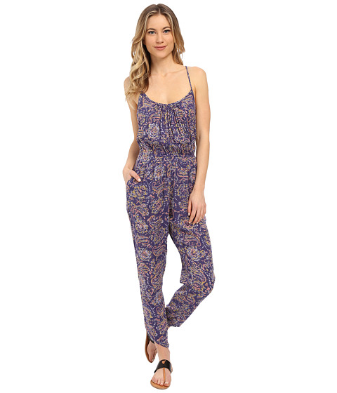 Imbracaminte Femei Billabong Drifter Gold Jumpsuit Blue Cruz