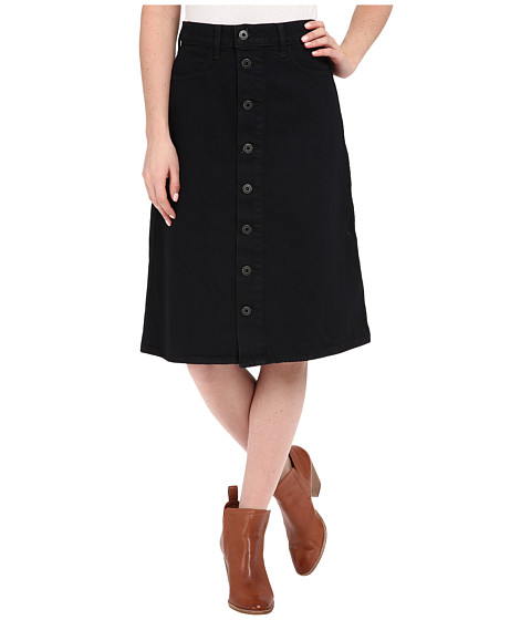 Imbracaminte Femei Lucky Brand High Rise Button Front Skirt Black Overdye