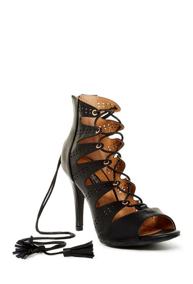 Incaltaminte Femei Elegant Footwear Amanda Lace-Up Heel BLACK