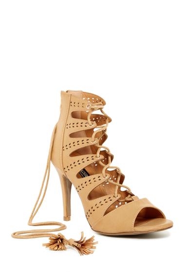 Incaltaminte Femei Elegant Footwear Amanda Lace-Up Heel CAMEL