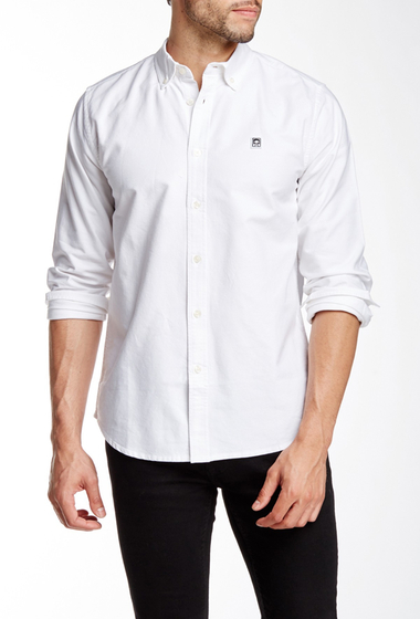 Imbracaminte Barbati Obey Eighty Nine Woven Regular Fit Shirt WHITE