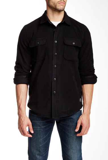 Imbracaminte Barbati Obey Lafayette Fleece Regular Fit Shirt BLACK