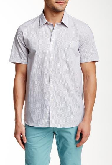 Imbracaminte Barbati Ted Baker London Karbiz Short Sleeve Geo Print Trim Fit Shirt WHITE