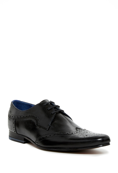 Incaltaminte Barbati Ted Baker London Hann Wingtip Oxford BLACK LTHR