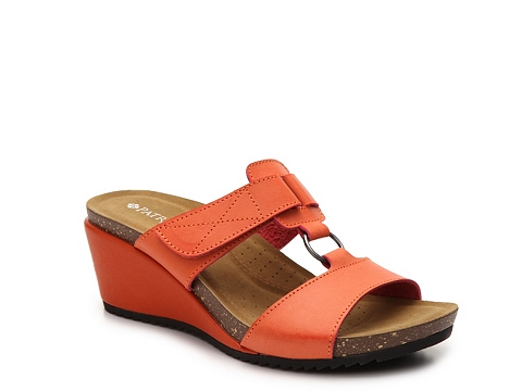 Incaltaminte Femei Patrizia by Spring Step Tamsin Wedge Sandal Orange