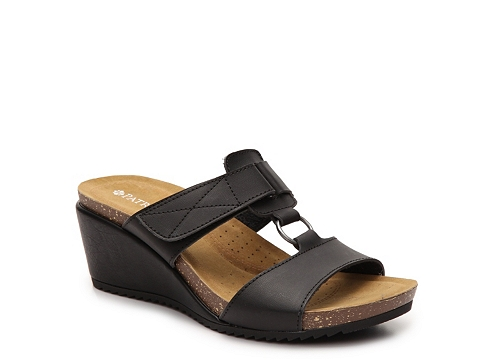 Incaltaminte Femei Patrizia by Spring Step Tamsin Wedge Sandal Black