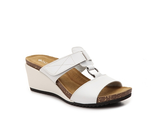 Incaltaminte Femei Patrizia by Spring Step Tamsin Wedge Sandal White