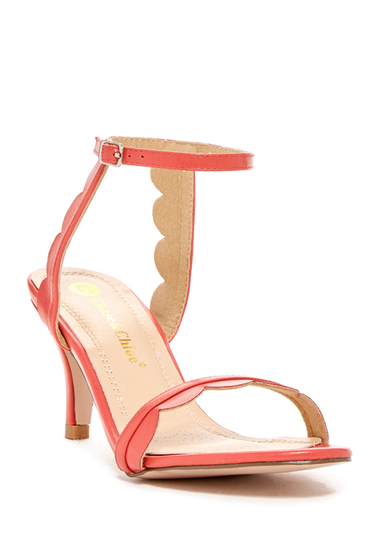 Incaltaminte Femei Chase Chloe Cleo Scalloped Sandal CORAL
