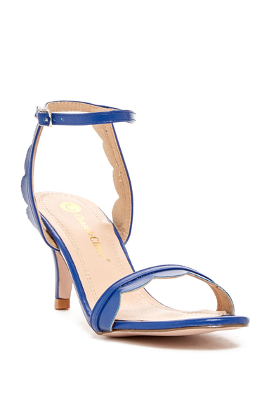 Incaltaminte Femei Chase Chloe Cleo Scalloped Sandal BLUE