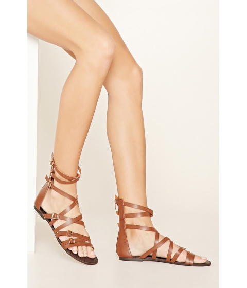 Incaltaminte Femei Forever21 Strappy Faux Leather Sandals Brown