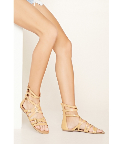 Incaltaminte Femei Forever21 Strappy Faux Leather Sandals Nude