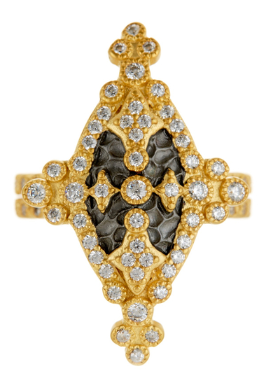 Bijuterii Femei Freida Rothman 14K Gold Plated Sterling Silver CZ Maltese Marquise Ring NO COLOR