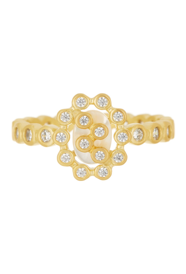 Bijuterii Femei Freida Rothman 14K Gold Plated Sterling Silver CZ Cutout Marquise Ring - Size 9 GOLD