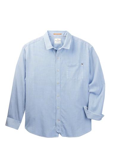 Imbracaminte Barbati Tommy Bahama Twill Light Striped Long Sleeve Shirt Big Tall GRECIAN BL
