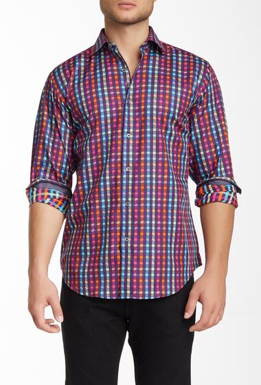 Imbracaminte Barbati Bugatchi Long Sleeve Classic Fit Woven Shirt PLUM