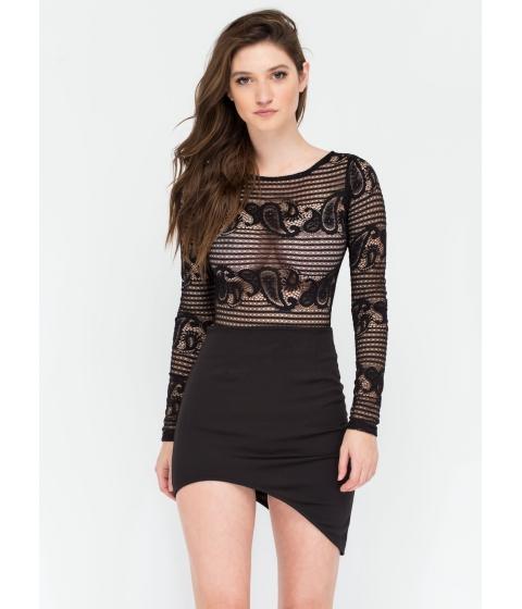 Imbracaminte Femei CheapChic Curve Warning Asymmetrical Skirt Black