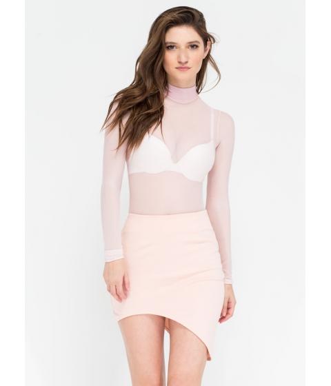 Imbracaminte Femei CheapChic Curve Warning Asymmetrical Skirt Blush