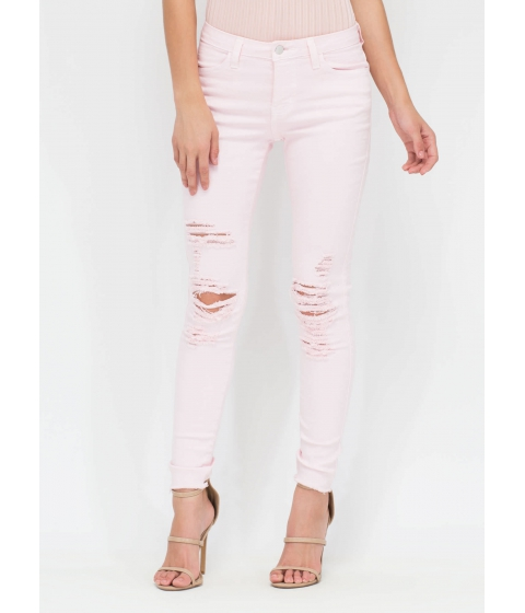 Imbracaminte Femei CheapChic Fray It Forward Distressed Skinny Jeans Blush