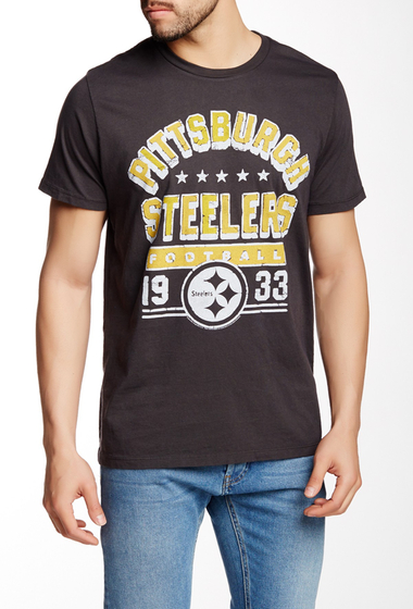 Imbracaminte Barbati Junk Food Pittsburgh Steelers Tee Black Wash
