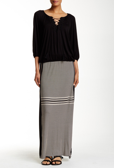 Imbracaminte Femei Max Studio Banded Border Printed Jersey Maxi Skirt BKBEIDTL