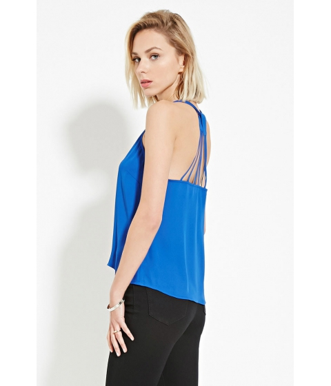 Imbracaminte Femei Forever21 Strappy Y-Back Top Royal