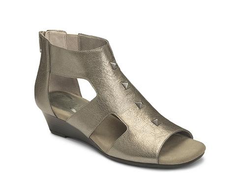 Incaltaminte Femei Aerosoles Layette Wedge Sandal Silver Metallic