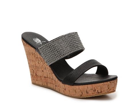 Incaltaminte Femei GC Shoes Vanity Wedge Sandal Black
