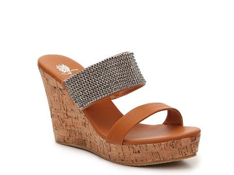 Incaltaminte Femei GC Shoes Vanity Wedge Sandal Cognac