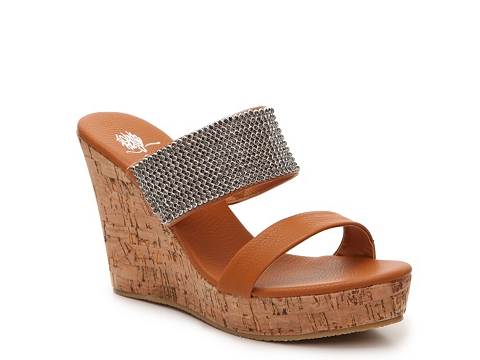 Incaltaminte Femei GC Shoes Vanity Wedge Sandal Cognac