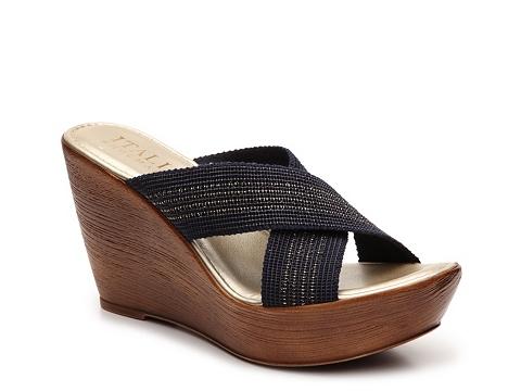 Incaltaminte Femei Italian Shoemakers Baby Wedge Sandal NavyGold
